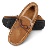 The Gentleman's Indoor/Outdoor Shearling Slippers.