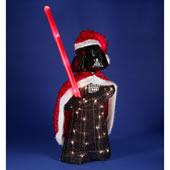 The Illuminated Darth Vader Santa.