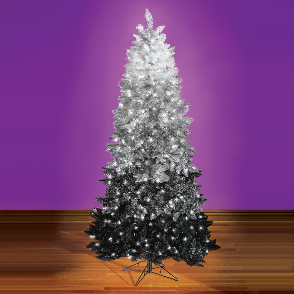 The Black Ombr Christmas Tree Hammacher Schlemmer