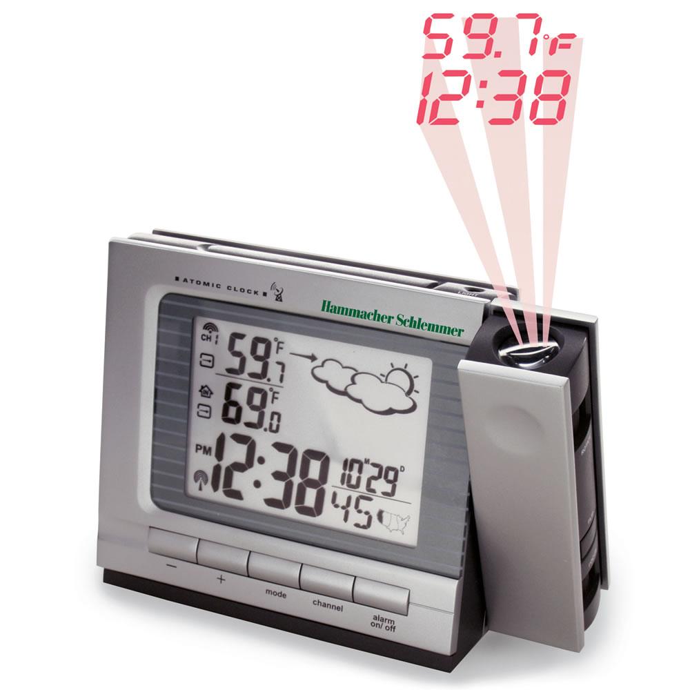 The Superior Projection Clock Hammacher Schlemmer