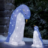 The LED Mother and Child Penguin Set.