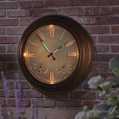 "The 24"" Outdoor Lighted Atomic Clock."
