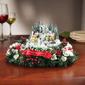 The Thomas Kinkade Floral Centerpiece.