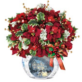 The Thomas Kinkade Bringing Christmas Cheer Centerpiece