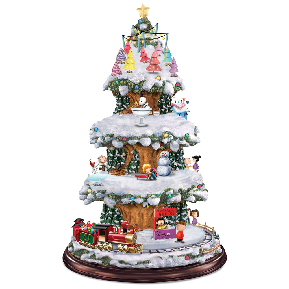 The peanuts animated christmas tree hammacher schlemmer for Christmas decoration stuff
