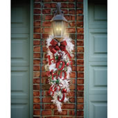 The Cordless Prelit White Holiday Sconce.