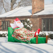 The 12' Inflatable Slumbering Santa.