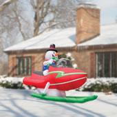The 12' Snowmobiling Snowman.