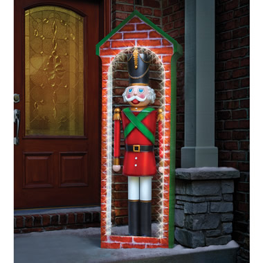 The 6' Prelit Christmas Queen's Guard