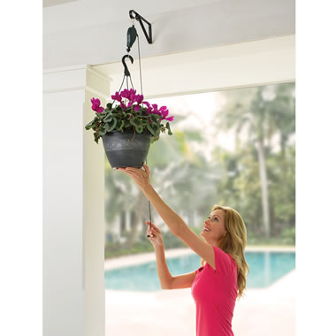 The Planter And Birdfeeder Pulley System.