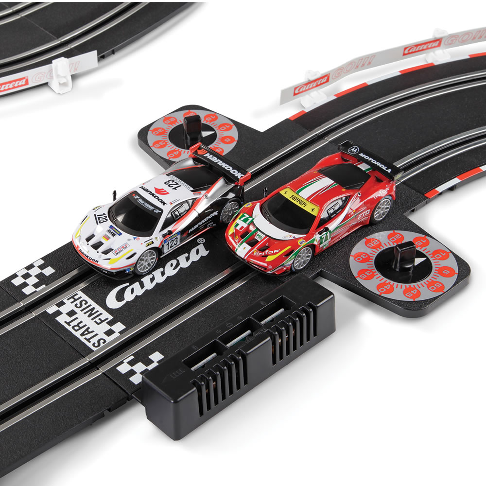 the carrera slot car race set hammacher schlemmer. Black Bedroom Furniture Sets. Home Design Ideas