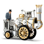 The Stephenson's Rocket Stirling Engine.