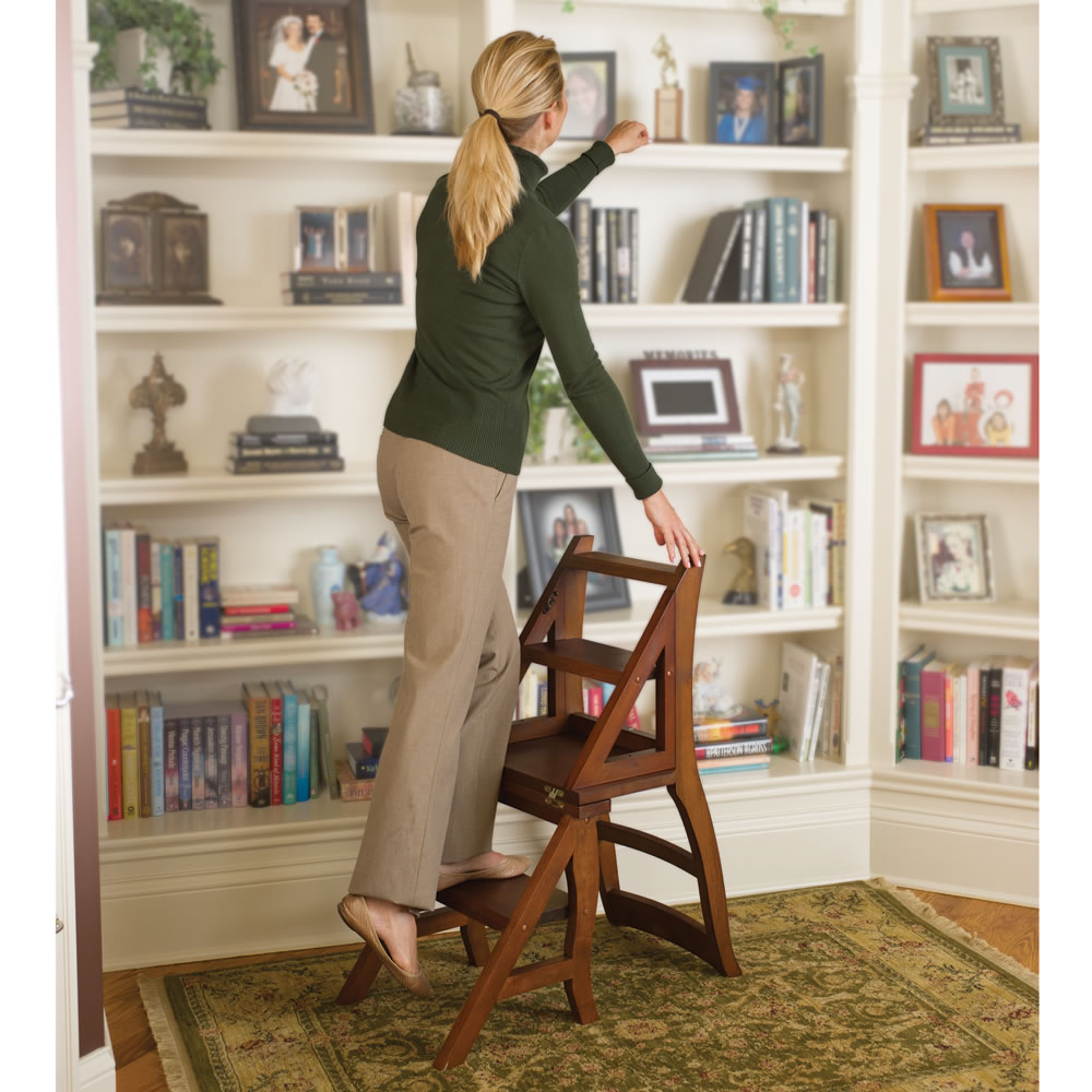 The Benjamin Franklin Library Ladder Chair Hammacher