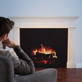 The Faux Fireplace Decal.