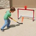 The Light And Horn Hockey Net.
