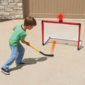 The Light And Horn Hockey Net.