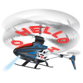 The Personalized Message RC Helicopter.