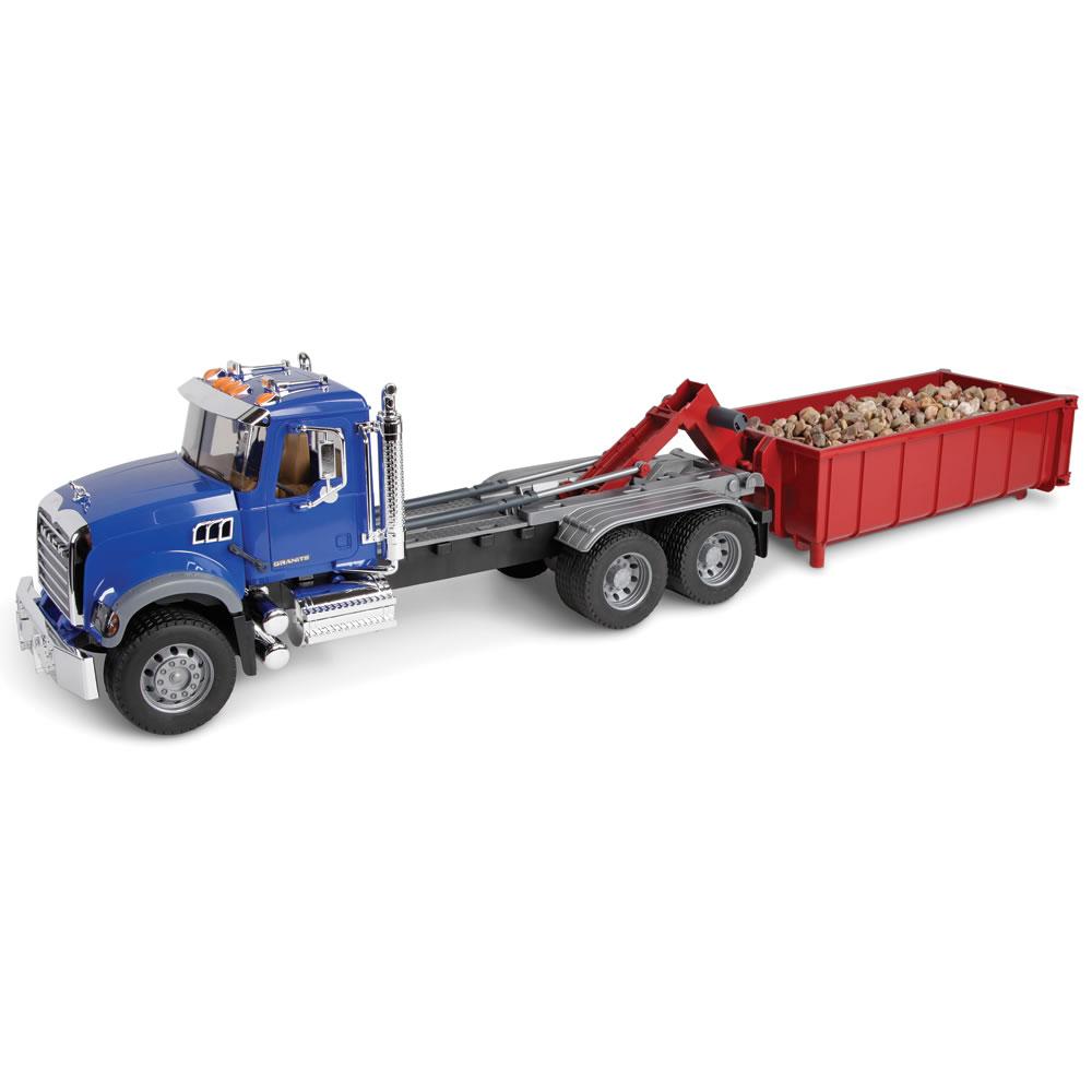 the mack roll off container truck hammacher schlemmer