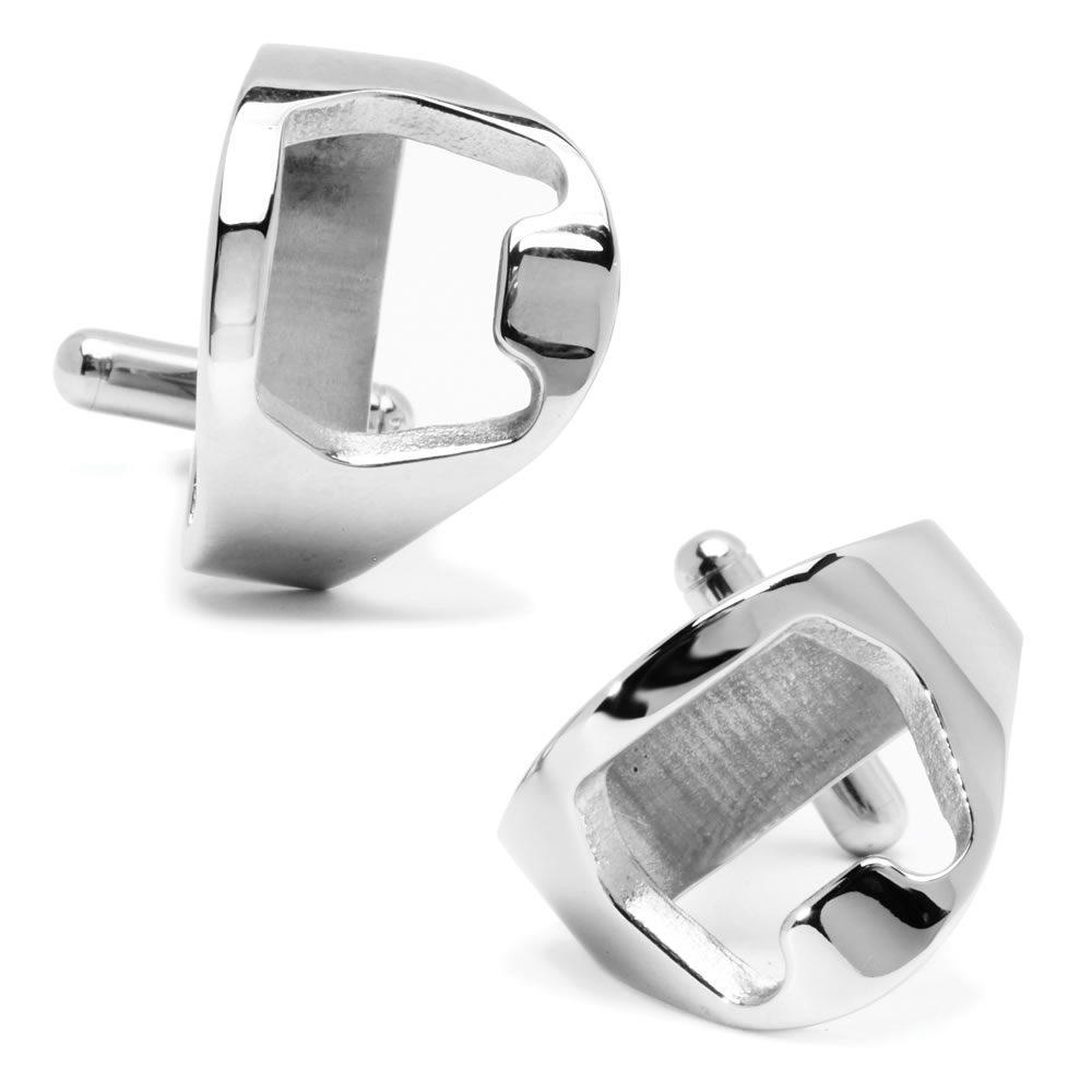 Stainless Steel Bottle Opener Cufflinks Hammacher Schlemmer