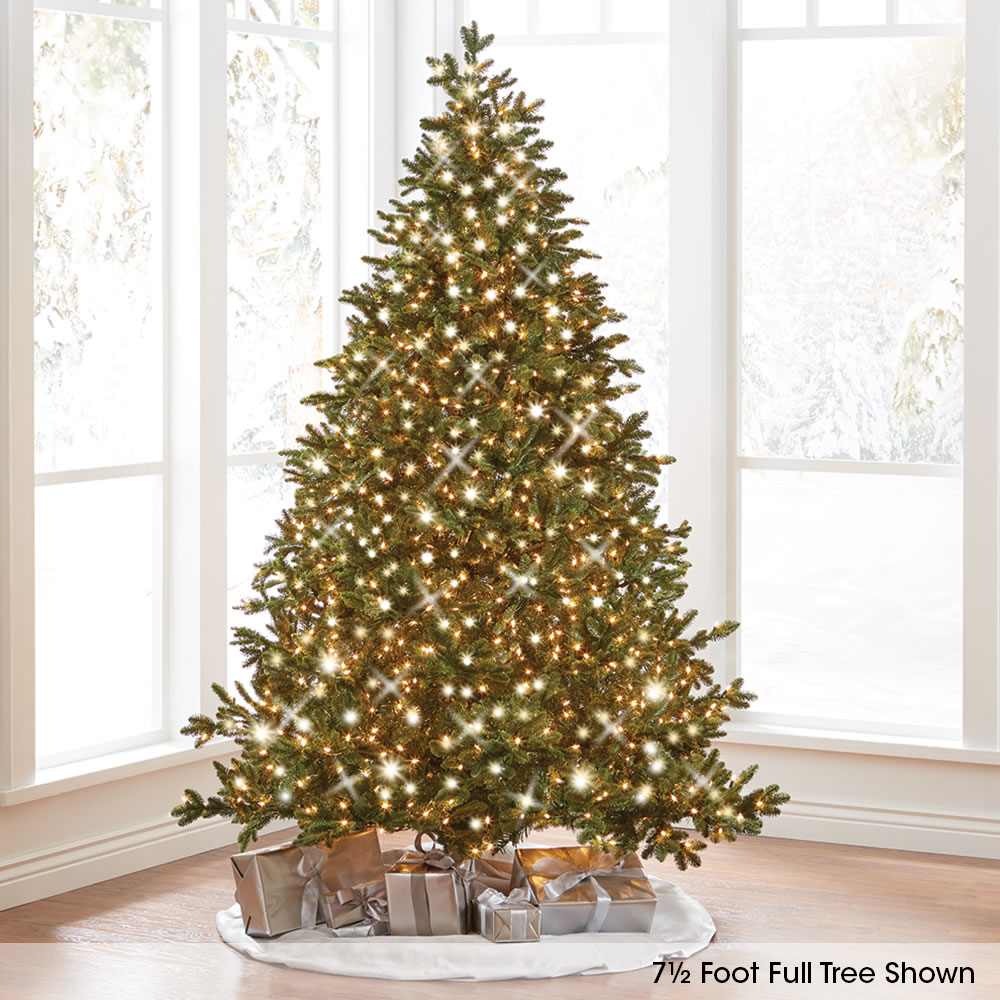 Wonderful Hammacher Schlemmer Christmas Tree Reviews Part - 8: The Worldu0027s Best Prelit Noble Fir (7.5u0027 Slim LED)
