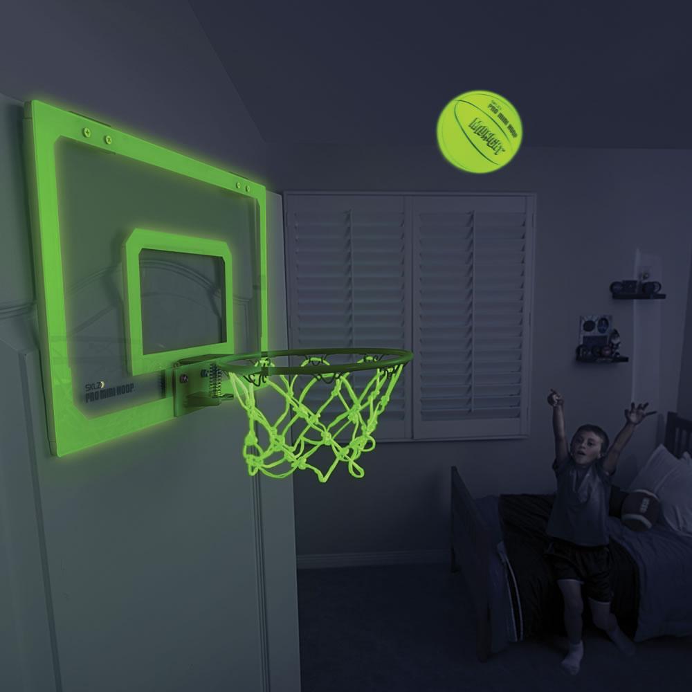 The Glow In The Dark Indoor Basketball Hoop & The Glow In The Dark Indoor Basketball Hoop - Hammacher Schlemmer Pezcame.Com