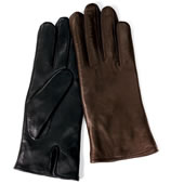 The Heat-Storing Leather Gloves (Women's).
