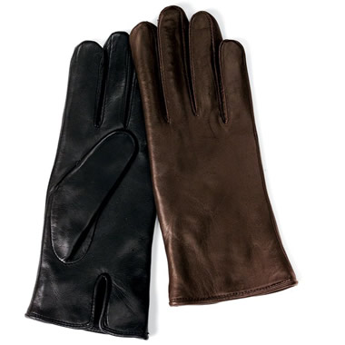 The Heat-Storing Leather Gloves.