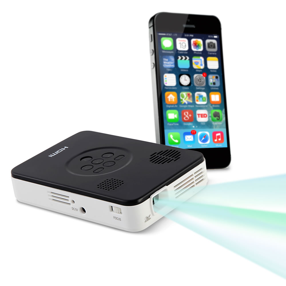 The smartphone pocket projector hammacher schlemmer for Iphone 6 projector