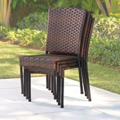 The Stackable Wicker Chairs.