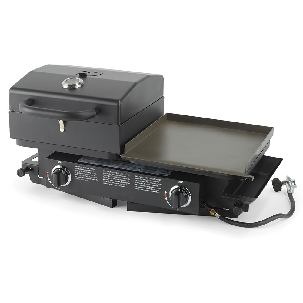 The Portable Grill And Griddle Hammacher Schlemmer