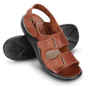 The Gentlemen's Walk On Air Strap Sandals.