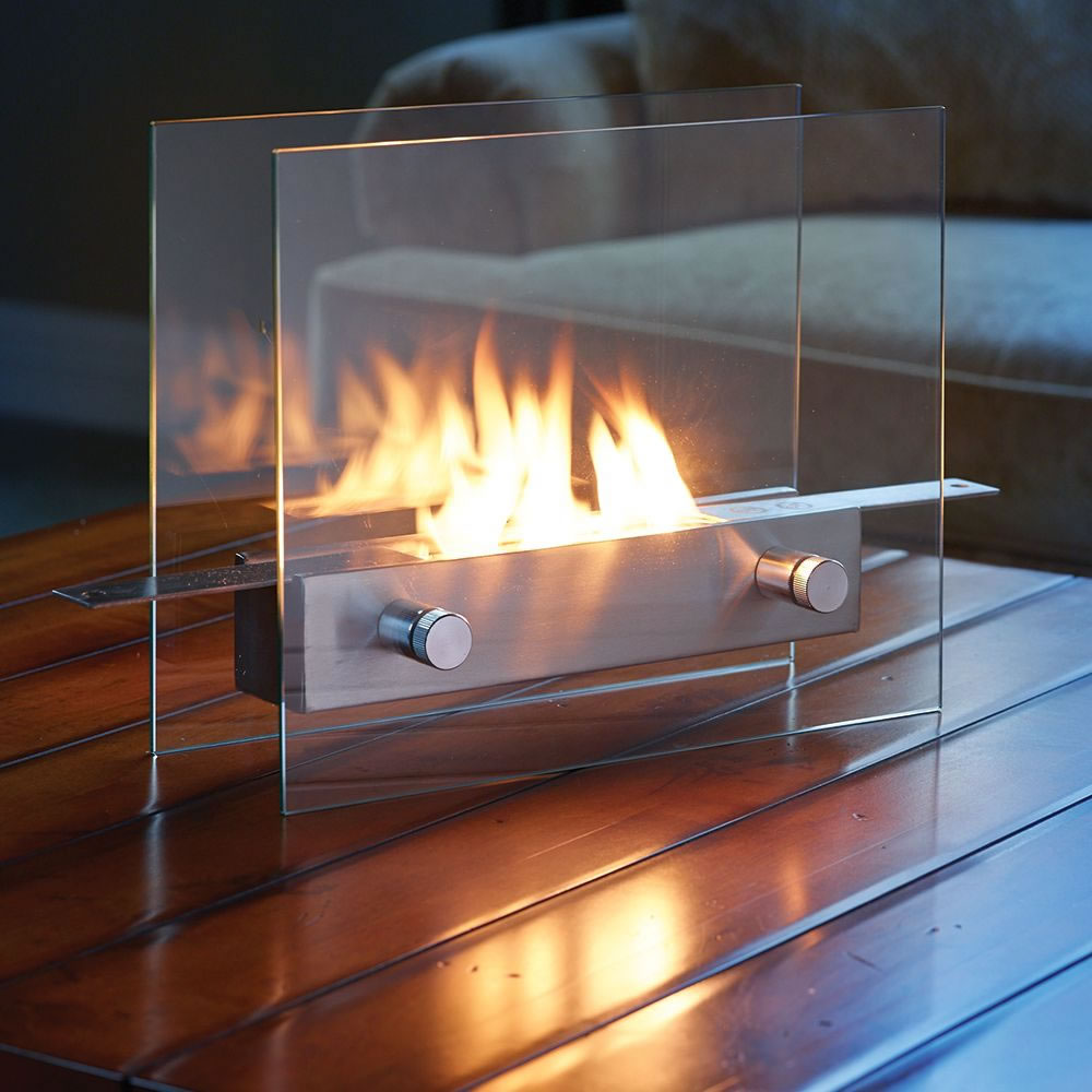 The Tabletop Fireplace Hammacher Schlemmer