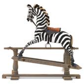 The Hand Carved English Rocking Zebra