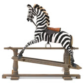 The Hand Carved English Rocking Zebra
