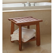 The Brazilian Eucalyptus Shower Stool.