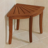 The Brazilian Eucalyptus Corner Shower Stool.