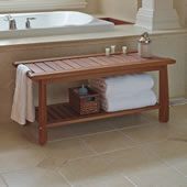 The Brazilian Eucalyptus Bathroom Bench.