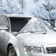 The Quick Removal Windshield Snow Tarp.