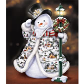 The Illuminated Thomas Kinkade Snowman.