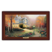 The Thomas Kinkade Illuminated Autumn Blessings Canvas Print