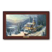 The Thomas Kinkade Illuminated Sleigh Ride Canvas Print