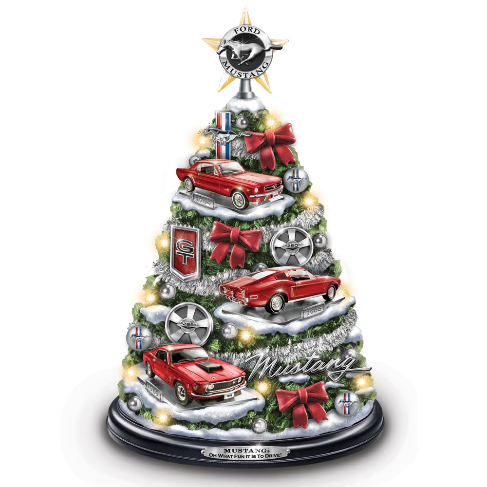 The Illuminated Ford Mustang Christmas Tree 1