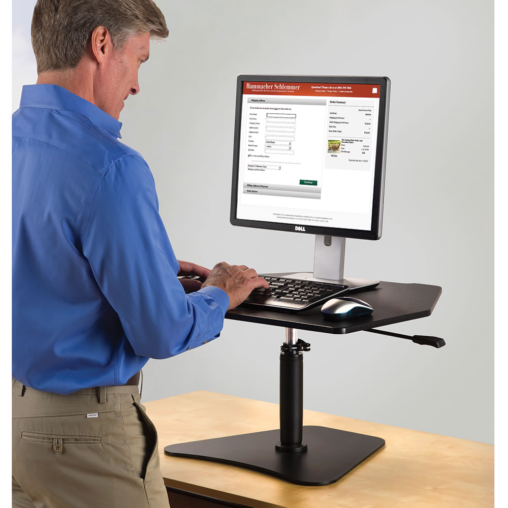 The Stand Up Workstation Platform Hammacher Schlemmer