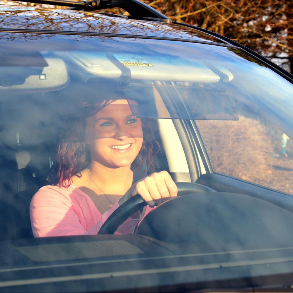 The Driver's See Through Sun Visor 3