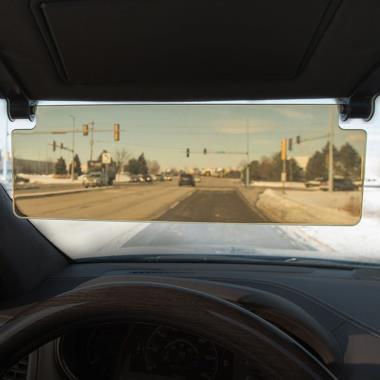 The Driver's See Through Sun Visor.