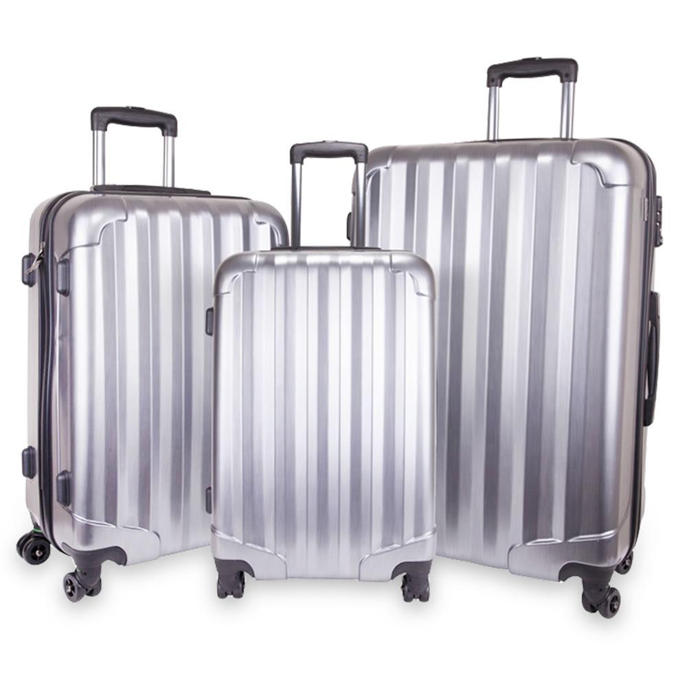 The Organized Traveler's Hardside Luggage Case - Hammacher Schlemmer