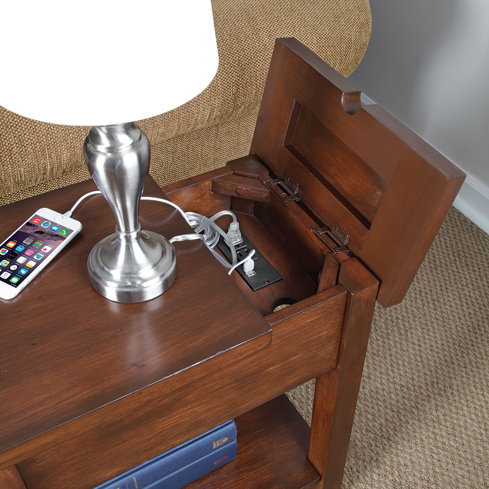 Make Charging Station The Device Charging End Table Hammacher Schlemmer