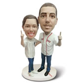 The Personalized Sports Caricature Double Bobblehead.