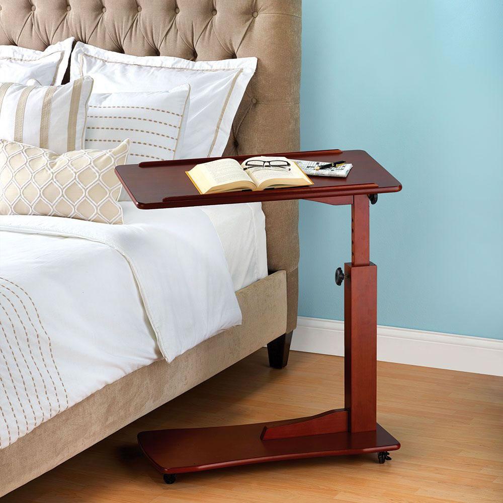 The Adjustable Height Side Table Hammacher Schlemmer