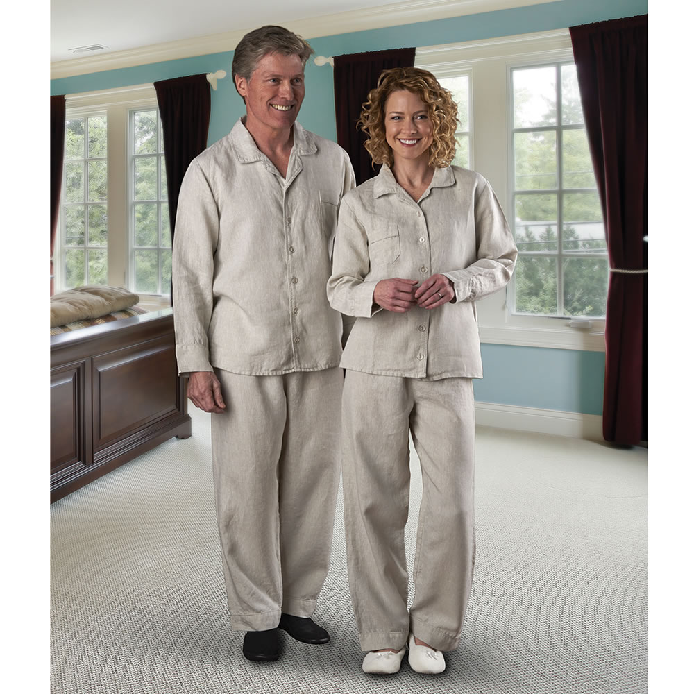 The Men's Genuine Turkish Linen Pajamas - Hammacher Schlemmer